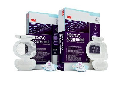 3M PICC/CVC Securement Device + Tegaderm I.V. Advanced Securement Dressing.