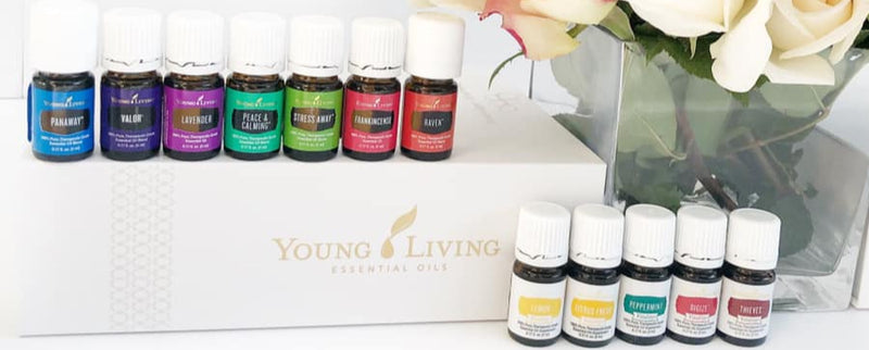 Young Living Essential Oils - Premium Starter Kit of 12 Oils w/ Diffuser