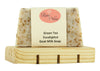 Goat Milk Soap Handmade Natural  (1 Bar & Soap Dish, Green Tea Eucalyptus)