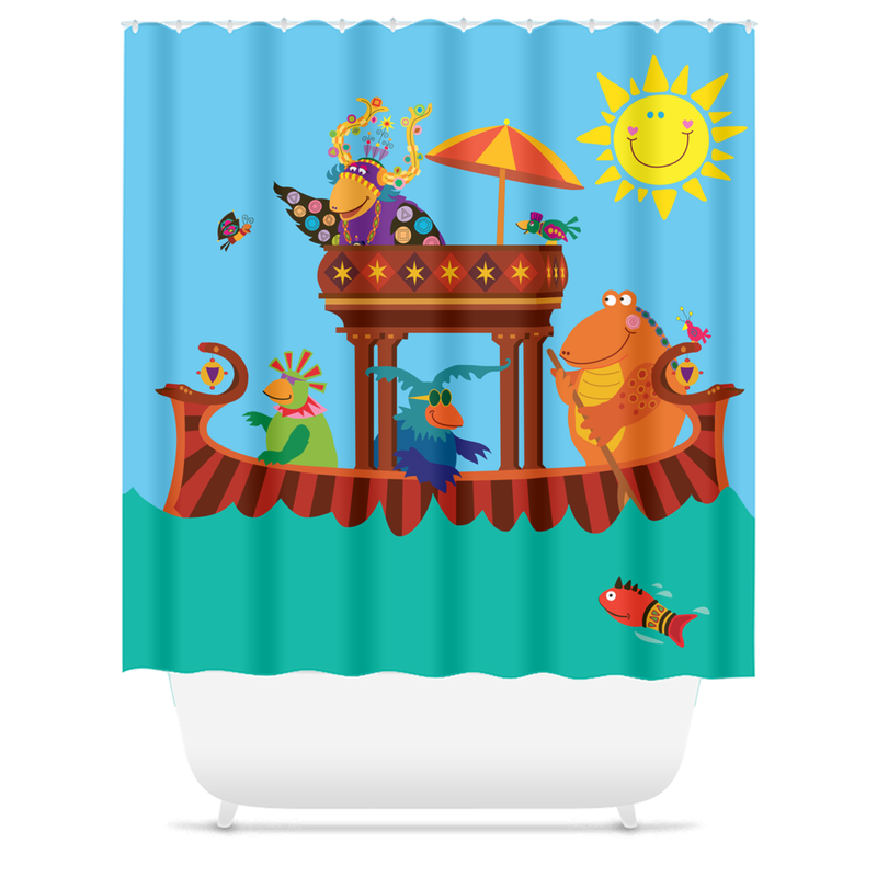 Shower Curtain for Kids Bathroom - Fun Bath Time for Children