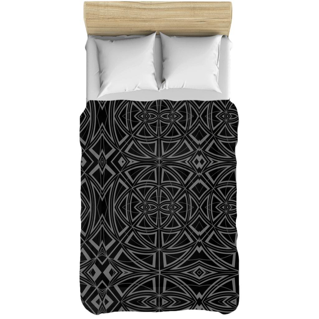 Comforter Set is Neutral Grey & Black in a Contemporary Modern Design for Your Bedroom
