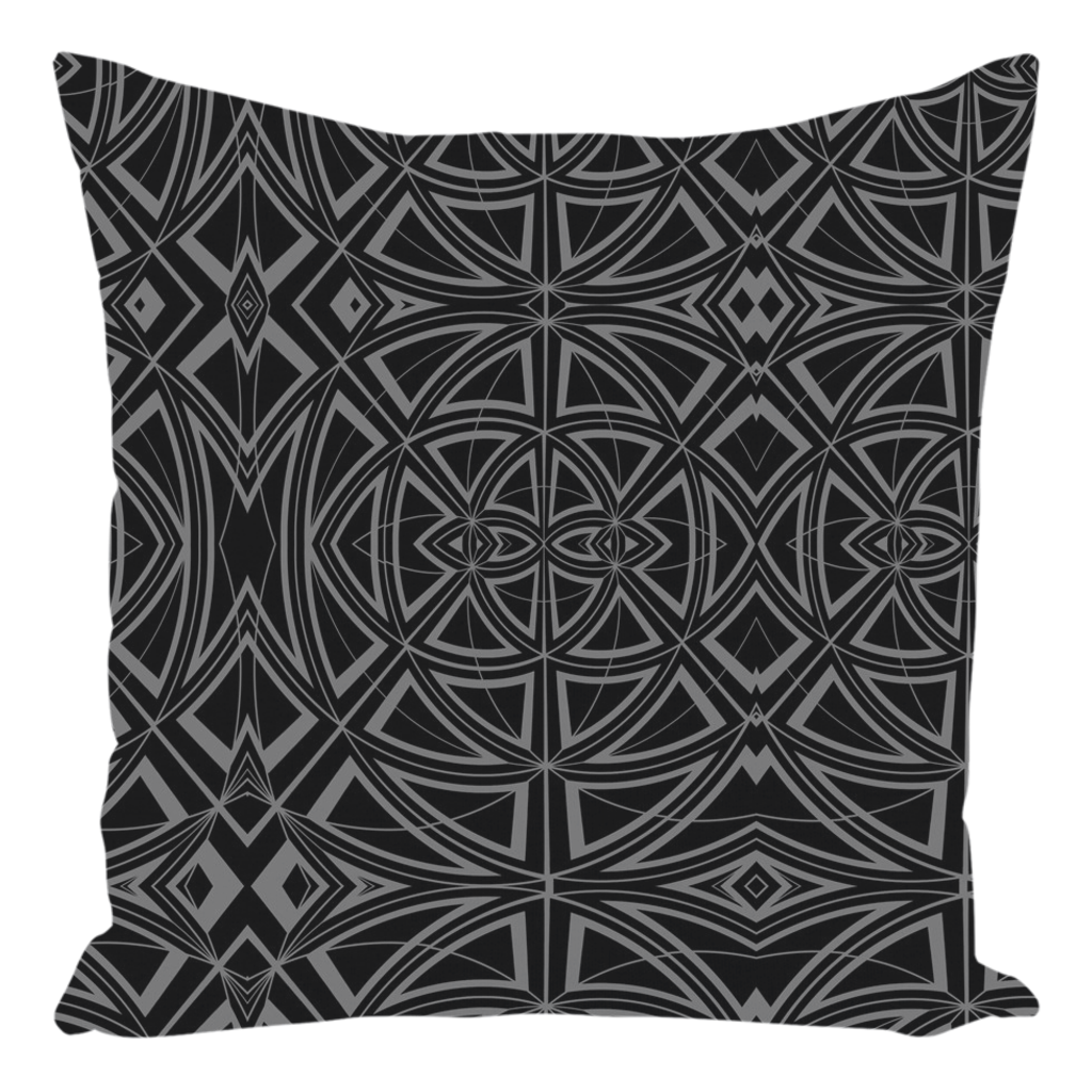 Throw Pillow in Black & Grey for Sofa Couch or Bed for Living Room Bedroom or Family Room