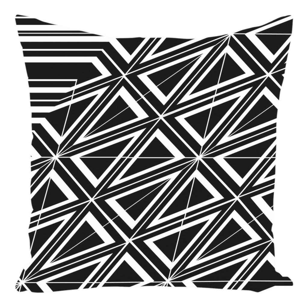"Throw Pillow in Black & White for Sofa Couch or Bed for Living Room Bedroom or Family Room - 14""x14"""