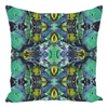 "Throw Pillow in Teal Green for Sofa Couch or Bed for Living Room Bedroom or Family Room - 14"" X 14"""
