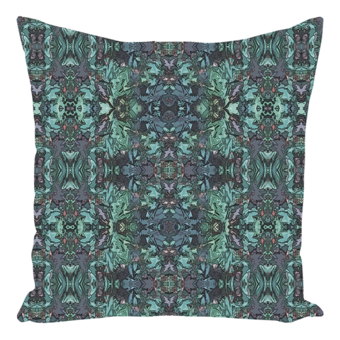 "Throw Pillow in Teal Aqua Green for Sofa Couch Living Room Bedroom or Family Room - 14"" X 14"""