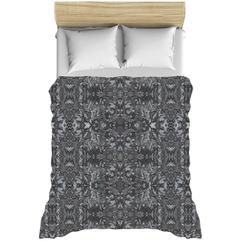 Duvet Cover in Neutral Grey & Black in a Contemporary Modern Design for Your Bedroom