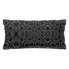 Pillow Sham is Neutral Grey & Black in a Contemporary Modern Design for Your Bedroom