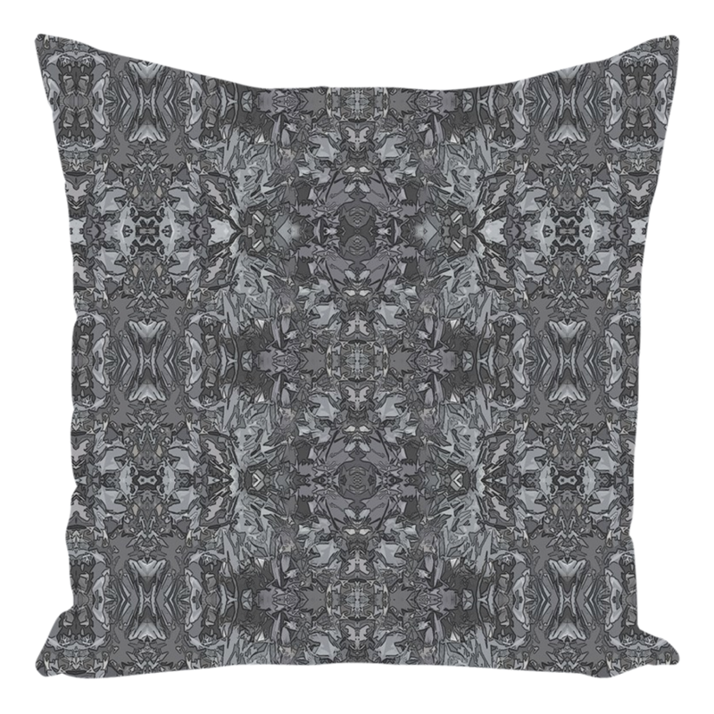Throw Pillow in Grey for Sofa Couch or Bed for Living Room Bedroom or Family Room