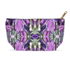 Accessory Pouch in Purple Pink Design for Cosmetics Makeup Bag Travel or Pencil Case