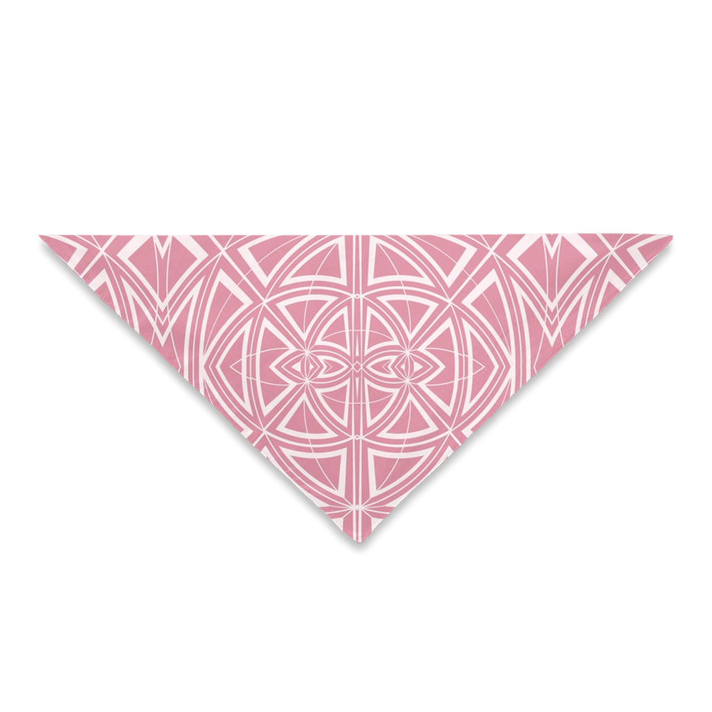 Bandanas for Your Hair Outfit or Your Dog in a Pink and White Unique Print Design