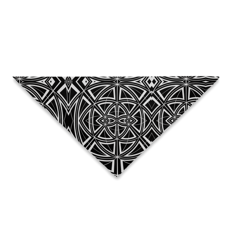 Bandanas for Your Hair, Outfit or Your Dog in a Unique Black & White Geometric Design