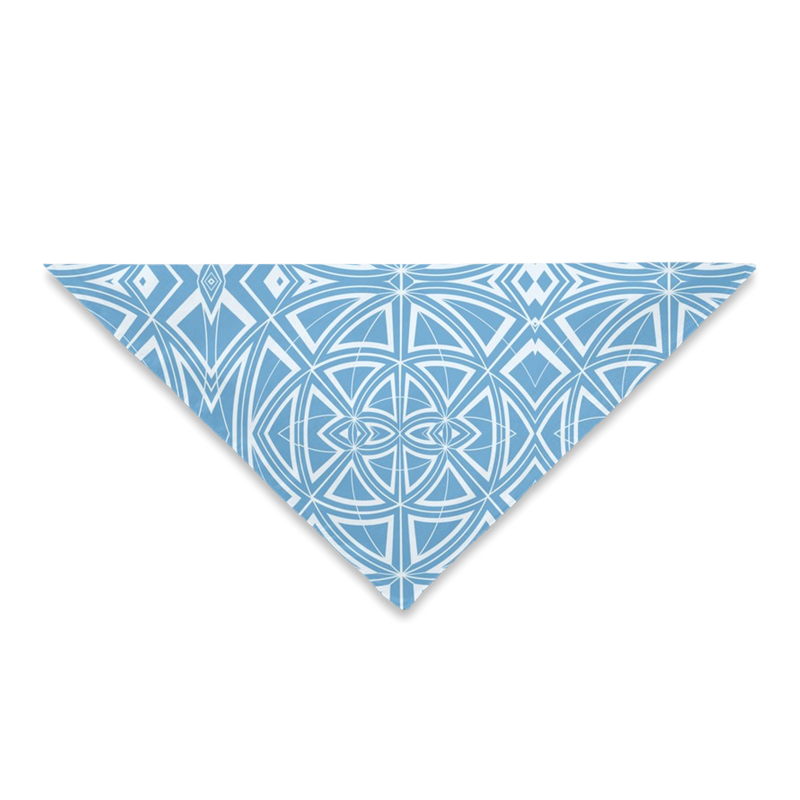 Bandanas for Your Hair, Outfit or Your Dog in a Unique Blue Geometric Print Design