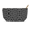 Accessory Pouch in a Black & White Geometric Design for Cosmetics Makeup Bag Travel or Pencil Case