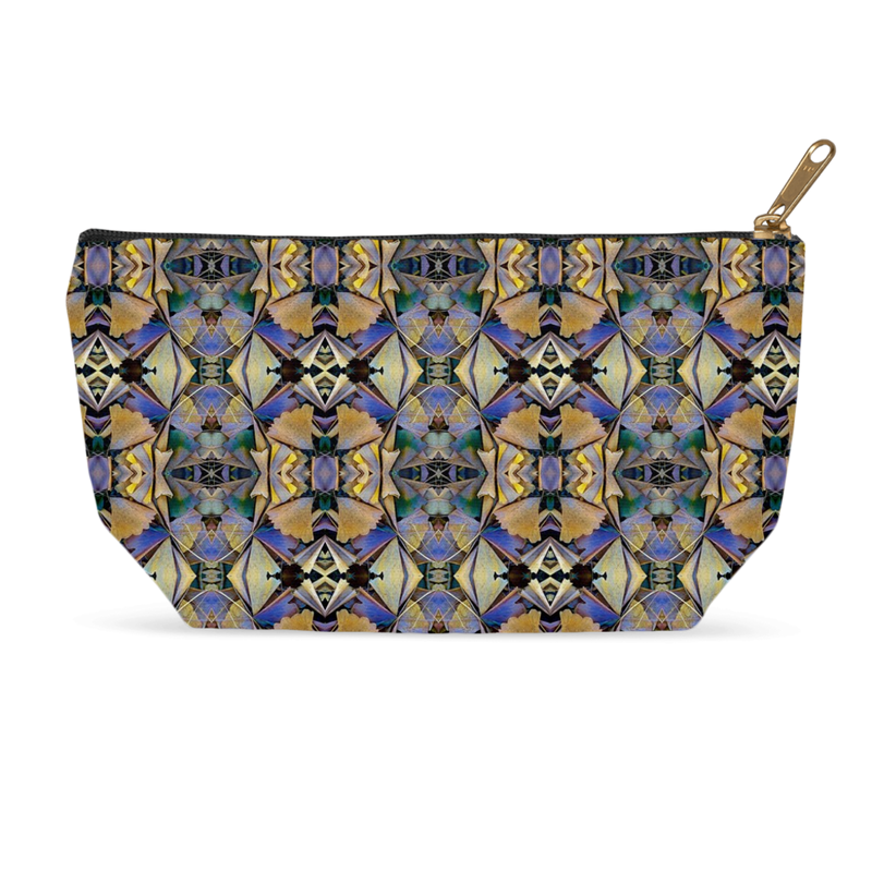 Accessory Pouch in a Colorful Geometric Design for Cosmetics Makeup Bag Travel or Pencil Case