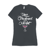 Ladies Women's T-Shirt Husband & Wine Saying