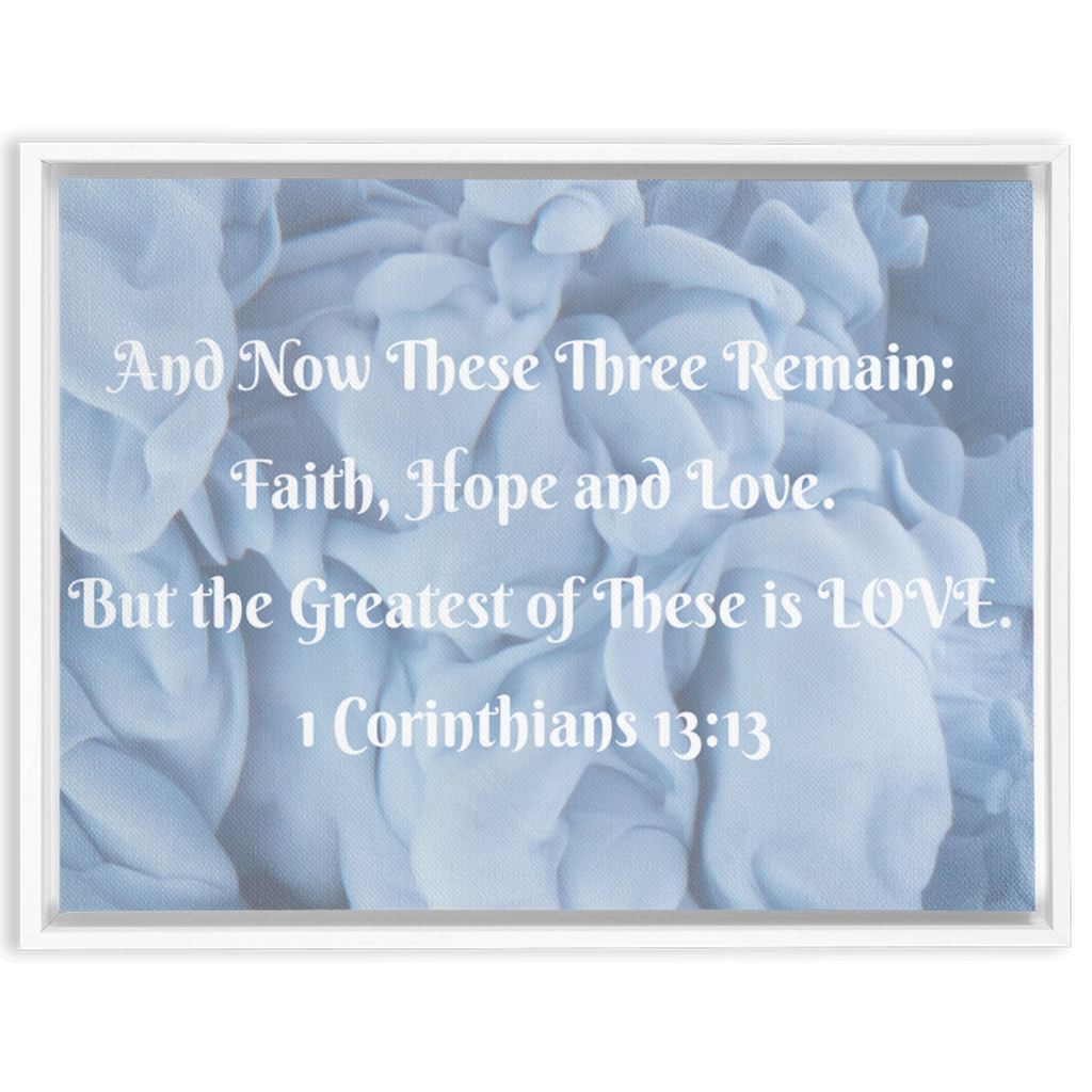 Framed Canvas Wrap,Blue Print,Wall Art,Home Decor,Christian Scripture,Bible Verse,Christian Wall Art,Scripture Wall Art,Christian Gift