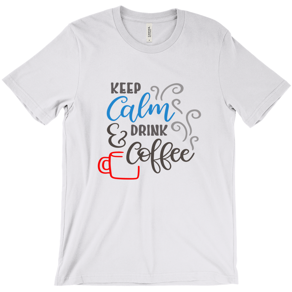 T-Shirt W/ Saying, Coffee Lover Shirt, Funny Tee, White Shirt, Grey Shirt, Funny T-Shirt,Graphic T-Shirt,Men's T-Shirts, Women's Tees,Gift