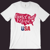 USA T-Shirt, Patriotic Shirt, USA America Tee, Red White & Blue, 4th Of July Shirt, Women's Patriotic Shirt,Men's Patriotic Tee,Memorial Day