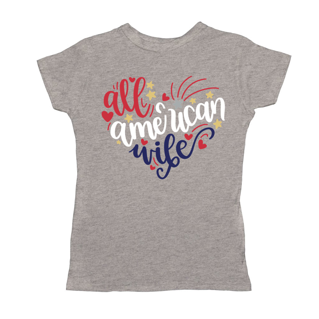 Patriotic Shirt, All American Wife Tee, Red White Blue, 4th Of July Shirt, Women's Patriotic Shirt, Memorial Day, USA Shirts, America Shirt