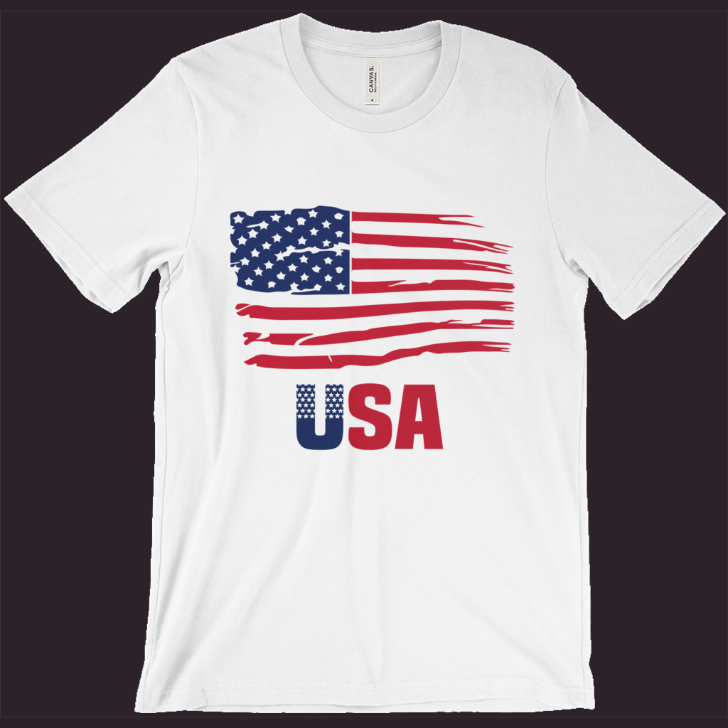USA T-Shirt, Patriotic Shirt, American Flag Tee, Red White Blue, 4th Of July Shirt, Women's Patriotic Shirt,Men's Patriotic Tee,Memorial Day