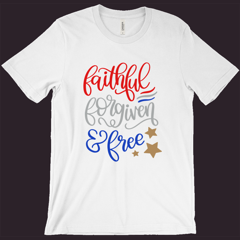 Christian T-Shirt, Patriotic Shirt, America Tee, Red White & Blue, July 4th Shirt, Womens Patriotic Shirt,Mens Patriotic Tee,Memorial Day