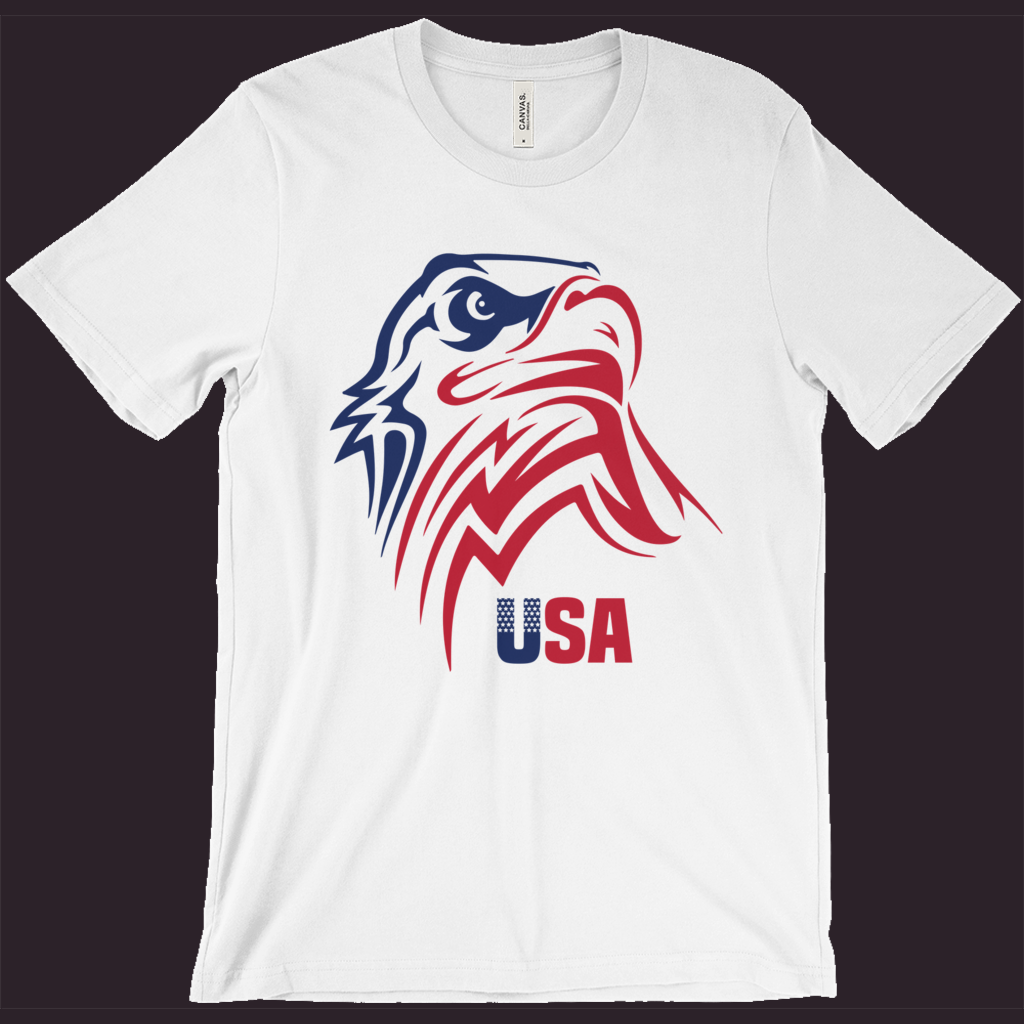 USA T-Shirt, Patriotic Shirt,American Eagle,Flag Tee,Red White Blue,4th Of July Shirt,Womens Patriotic Shirt,Mens Patriotic Tee,Memorial Day