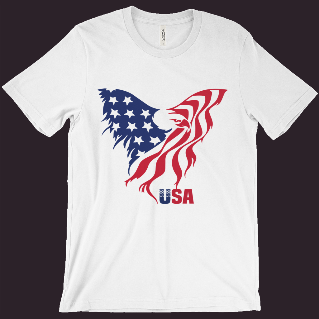 USA T-Shirt, Patriotic Shirt,American Eagle,Flag Tee,Red White Blue,4th Of July Shirt,Womens Patriotic Tee,Mens Patriotic Tee,Memorial Day