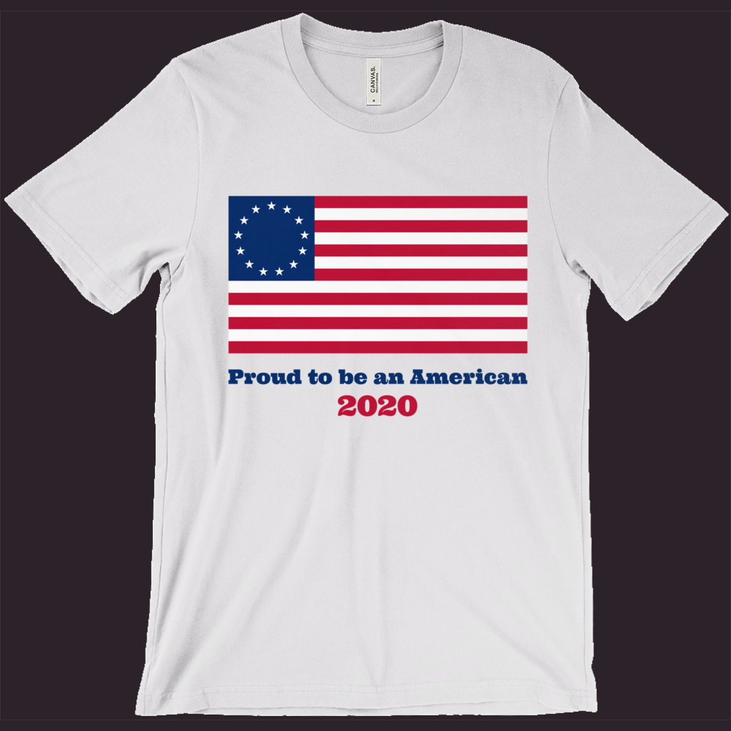 T-Shirt with Betsy Ross Flag | Patriotic Shirt