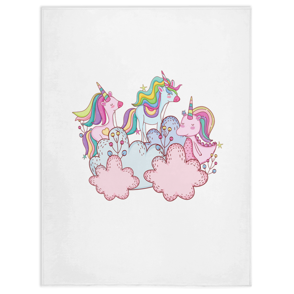 Minky Blanket Nursery Unicorn Decor for Girl Unicorn Lovers and Baby Gift