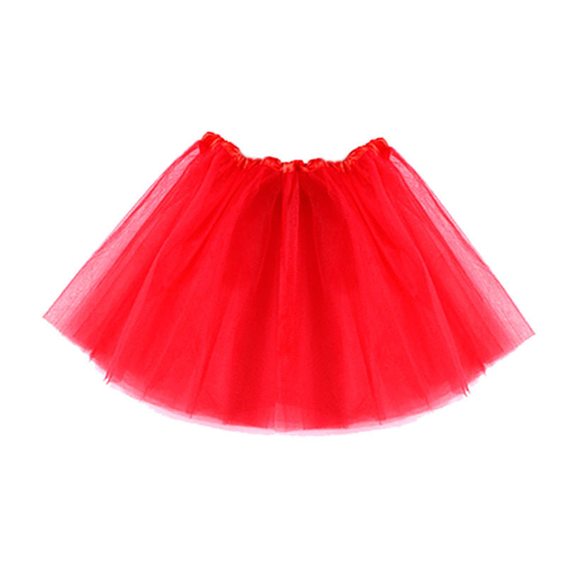 Tutus for Girls Dance Skirt Costumes (Red, Blue, Green, Pink, Purple, Yellow Set)
