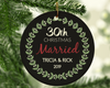 30th Wedding Anniversary Ceramic Circle Christmas Ornament