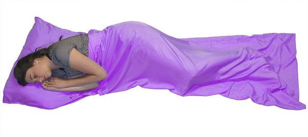 Teenagers Sleepovers Sleeping Bag Liner for Travel Camping Party Gift- Purple