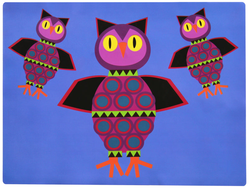 Baby Placemat For Restaurant Butterfly, Owl - Silicone Childrens Placemats for Kids-Set of 2