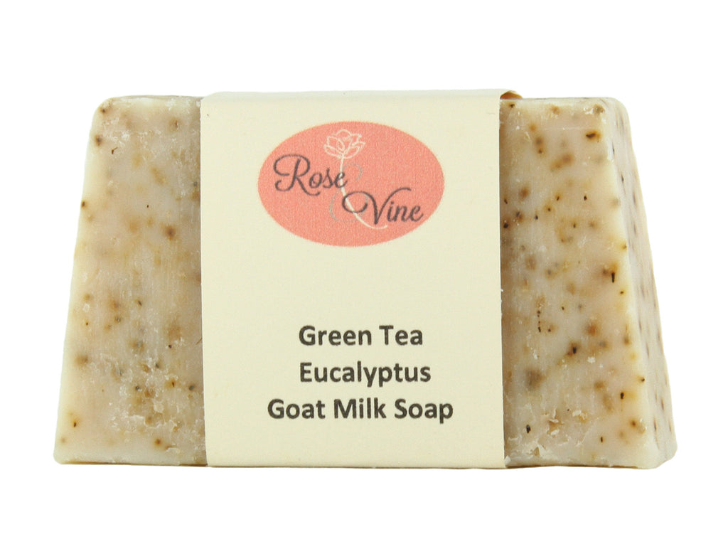 Goat Milk Soap Handmade USA Natural (1 Bar, Green Tea Eucalyptus)