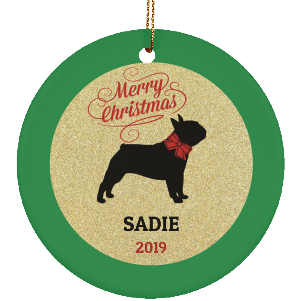 French Bulldog Personalized Christmas Ornament