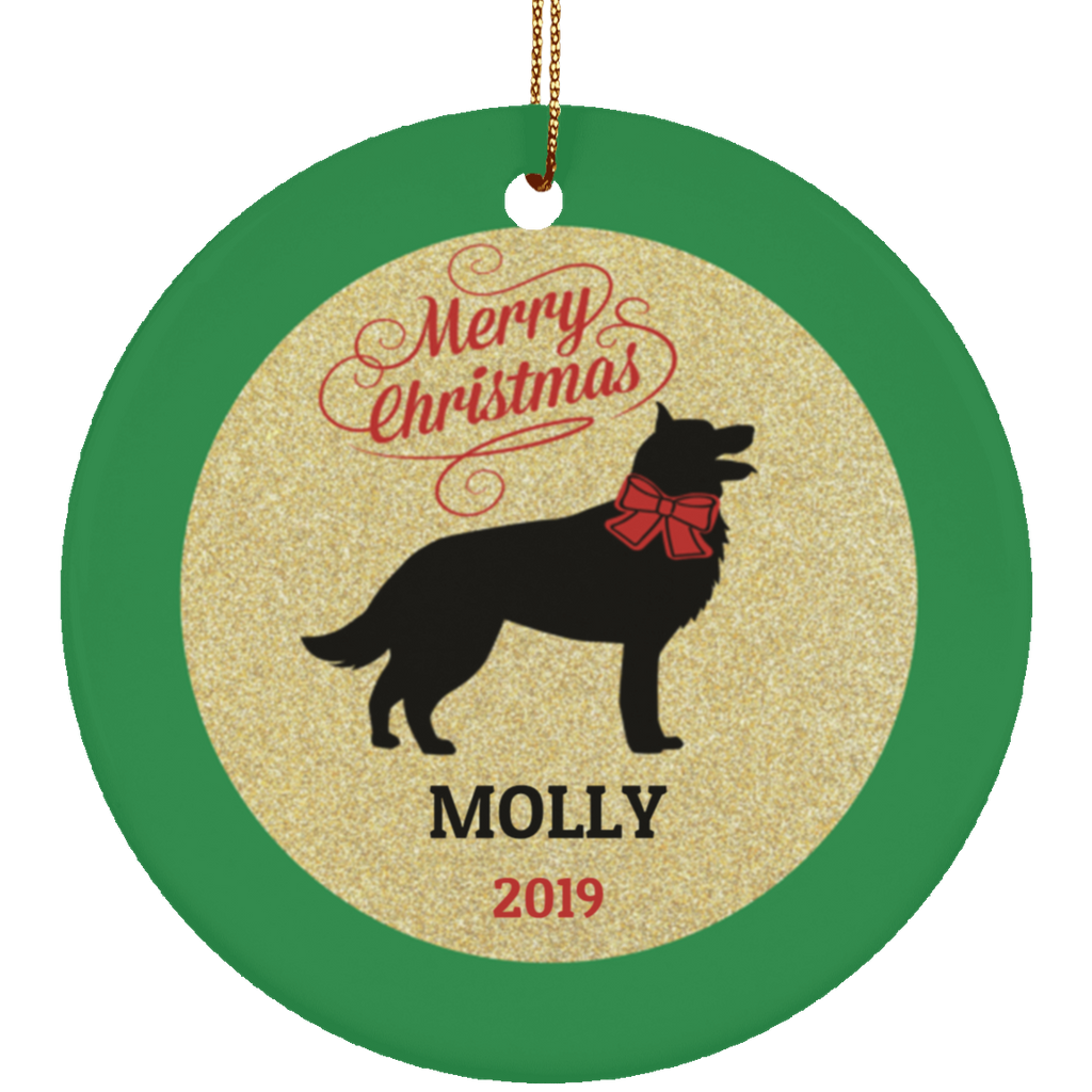 German Shepherd Custom Christmas Ornament