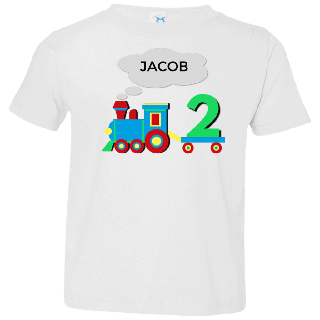 Personalized Toddler Birthday T-Shirt for 2 Year Old Second Birthday