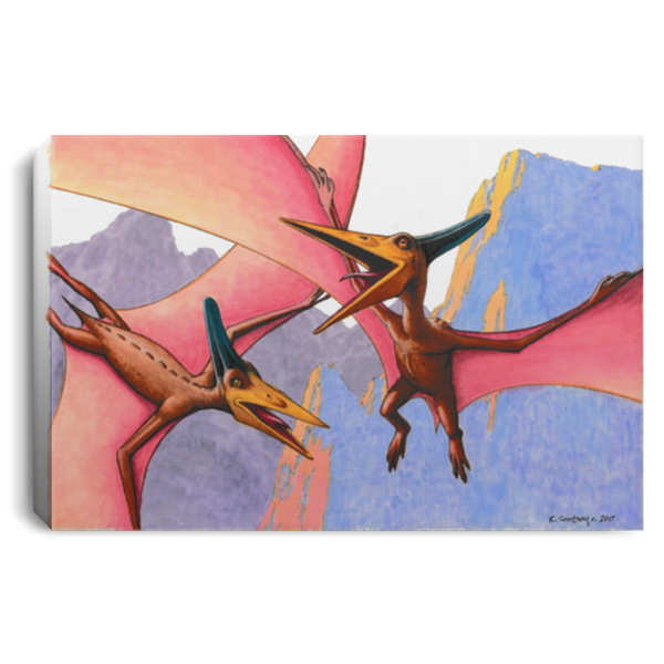 Dinosaur Wall Art Decor for Kids Bedroom, Playroom or Nursery - Pterodactyls