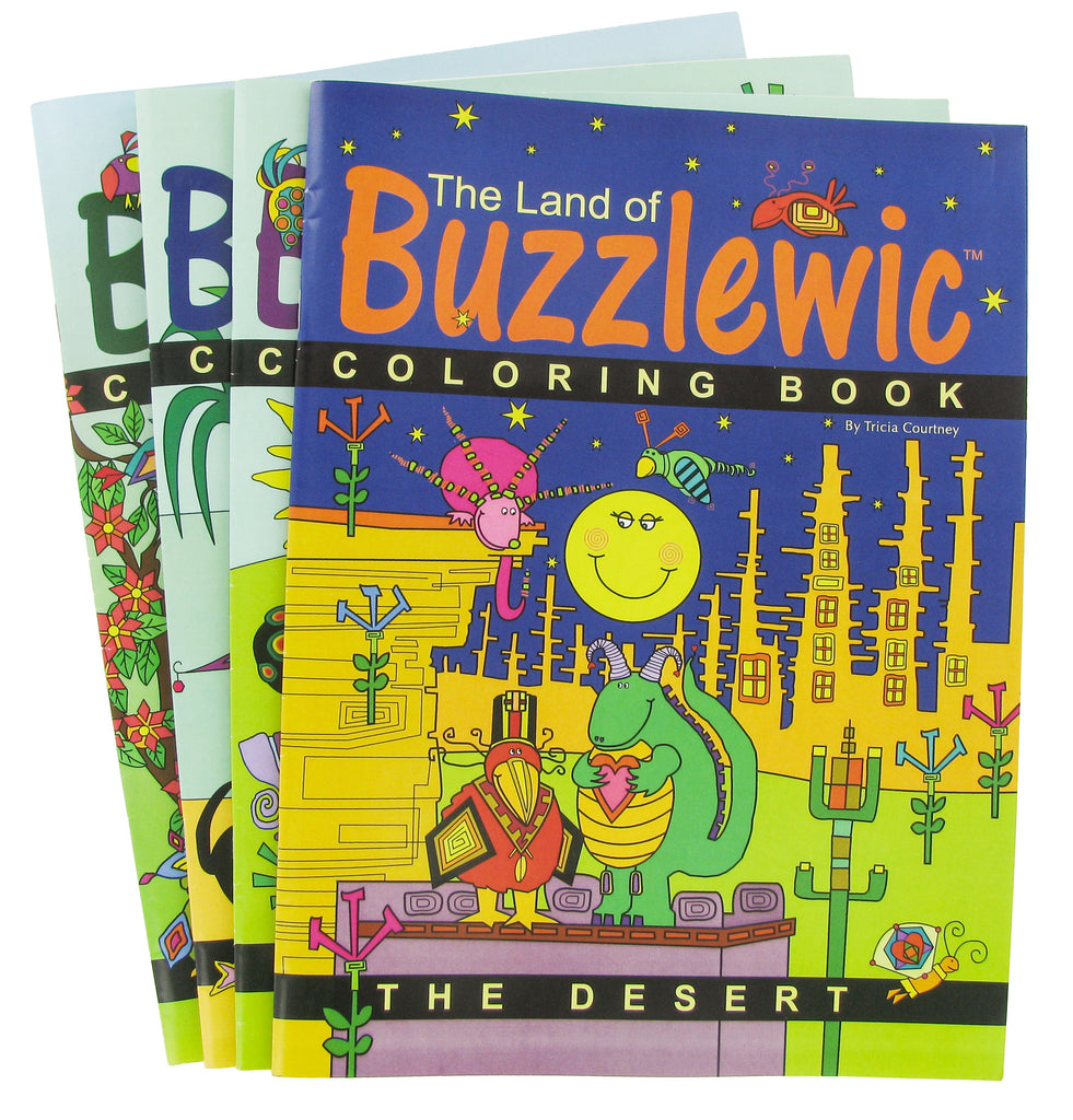 Coloring Books for Children The Land of Buzzlewic - 4 pc Set