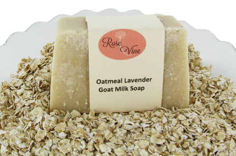 Goat Milk Soap Handmade USA Natural  (1 Bar, Oatmeal Lavender)