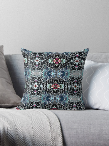 Throw Pillow & Floor Pillow in Black Grey Blue for Couch Bed Floor for Living Room Bedroom or Family Room