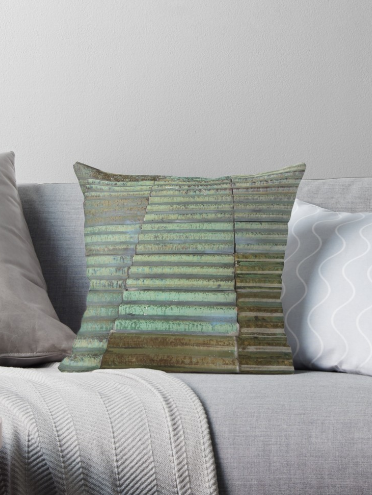Throw Pillow & Floor Pillow in Brown Aqua Green for Couch Bed Floor for Living Room Bedroom or Family Room