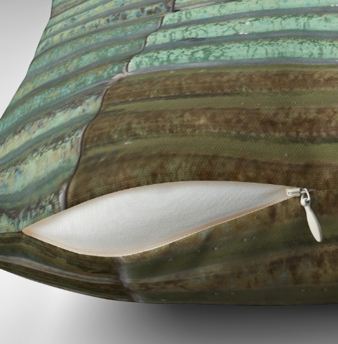 Throw Pillow & Floor Pillow Covers in Brown Aqua Green for Couch Bed Floor for Living Room Bedroom or Family room