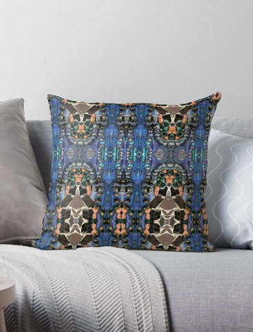 Throw Pillow & Floor Pillow in Blue for Couch Bed Floor for Living Room Bedroom or Family Room