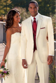 Traditional Ivory Tuxedo for Wedding, Prom or Formal Occassion