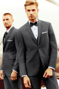 Grey Business Suit Rental for Wedding, Prom or Formal Occassion