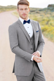 Traditional Light Grey Tuxedo for Wedding, Prom or Formal Occassion