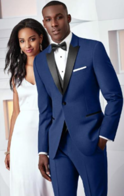 Tuxedo Rental in Blue for Wedding, Prom or Formal Occassion - Cobalt Blue Slim Fit