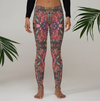 Yoga Leggings in a Unique Red Printed Design Dance Workouts Casual Apparel