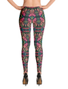 Yoga Leggings in Pink Red Green Geometric Unique Fashion Design